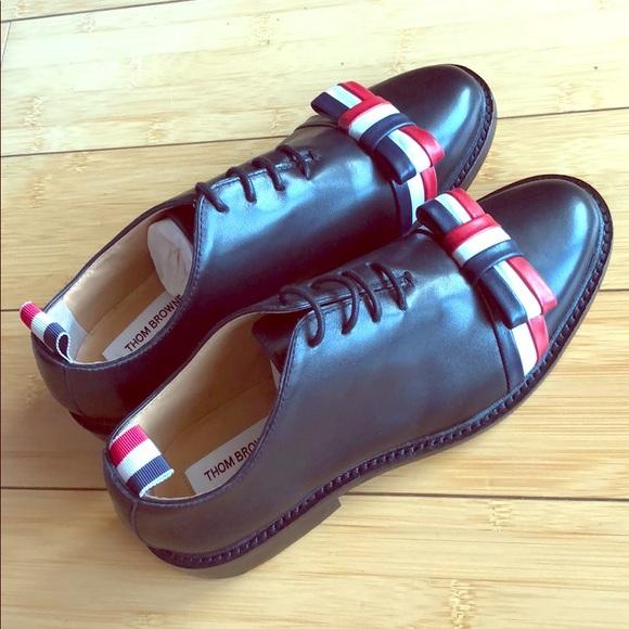 4103121de6 Thom Browne NY Wholecut tricolour bow shoe. M_5b70bad5de6f6266f62de2a4